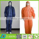 economic disposable coverall with hood,protective cloth 40g nonwoven fabric