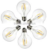 YOSON Lighting, G80 Globe Bulb, 6 Watts, 600 Lumens, COB Filament Vintage Style Bulb, Warm White, 50W Equivalent