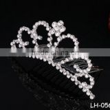 Elegant rhinestone and crystal beauty pageant crowns&tiaras small delica hair accessories