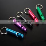 Aluminum Alloy Whistle Keyring Keychain Mini For Outdoor Emergency Survival Safety Sport Camping Hunting