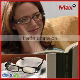 Max+ Wholesale Light Up Reading Glasses Hot Sale PC Material LED Reading Glasses For Night Using                                                                         Quality Choice