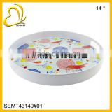 Melamine Beer Tray, Round melamine tray with handle