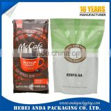 Laminated material coffee bean bags,coffee bean plastic bag,stand up pouch for coffee bean