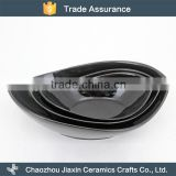 Hotel tableware modern black ceramic japanese bowl set