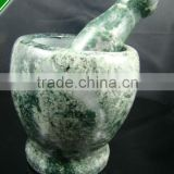 Wholesale Moss Agate Mortar And Pestle Set Gift Crafts