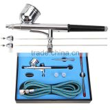 0.2, 0.3, 0.5mm Double Action 7cc Pro Airbrush Set for Nail Art Body Paint Cake Decorating T Shirt Art AS-30