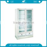 AG-SS083 two glass door storage medical cupboard hospital first aid cabinet