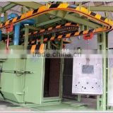 1 double route series hanger chains type continuous working head rail shot blasting machine