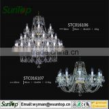 2016 home decoration crystal chandelier candle holders with LED bulb