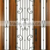 Wrought Iron Entry Door Designs For House DJ-S9000WST-4                                                                         Quality Choice