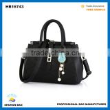 2016 fashion women's handbag, custom lady's hand bag black tote bag genuine leather handbag for women                                                                                                         Supplier's Choice