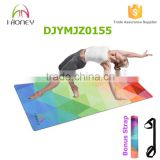 Full color Printed Microfiber Yoga Mat - Non-Slip 6P Free Eco-Friendly Pilates Exercise Yoga Mat