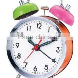 3.5 metal case mechanical alarm clock mechanism, retro design clock, desktop clock,colorful clock