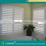 Wholesale china blinds factory outdoor pvc wooden diy window venetian blinds plantation shutters