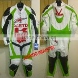 Professional Biker Cowhide leather Suit