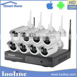 Looline Shenzhen Manufacture 8CH APP PC Control P2P 100M Wireless Security System IP Camera NVR Kit