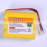 Hot selling rechargeable nicd battey pack 3.6V AA 600 nicd Battery Pack for cordless phone