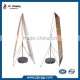 2015 aluminum and plastic pole water inject x banner stand in China
