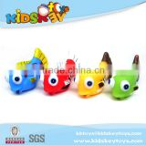 wholesale Baby bath toy animal 4pcs fish toy vinyl baby bath toy organizer