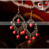 Vintage Decorative Personalized Big Chandelier Drop Earrings for Girls 6.5cm Length