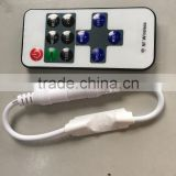 Mini RF LED Remote Controller Wireless Dimmer for 3528 5050 Strip Single Color 10pcs/lot