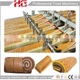 Automatic industrial swiss roll and layer cake baking plant