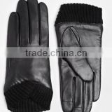 Women Bowknot Winter Genuine Soft Lamb Skin Cheap Leather Gloves                                                                         Quality Choice