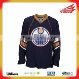 100% polyester OEM custom sublimation chicago blackhawks hockey jersey