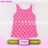 Wholesale children newest name brand Cotton baby Quatrefoil Printed Baby T-shirt little girl model top 100 Kids Girls Tank Tops