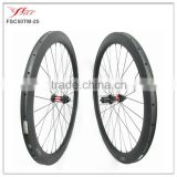 Thru QR Axle disc brake road wheels 50mm tubular bicycle wheels with DT240S hub