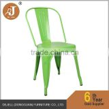 Vintage Retro Style Metal Industrial Colorful Chair for Cafe Bar Bistro