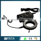 black Microscope LED Ring Light Source/led lighting for microscope lighted right