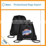 Taobao price Customeried printing bag men sport cheap Drawstring bags Wholesale