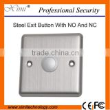 Stainless steel exit switch button NO/NC exit button metal single door switch X05N                                                                         Quality Choice