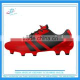 red high quality soccer shoe, 2016 new style soccer shoe for women, OEM factory soccer shoe