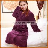 Promotion Dark Purple Thermal Nap Women Bathrobe