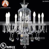 Bohemia 8 light clear crystal chandelier small glass pendant light