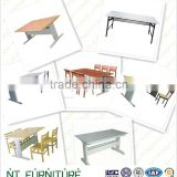 modern book case mdf school library furniture student desk and chair