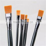 6 Pieces Nylon Hair Watercolor Gouache Painting Brush Long wooden Handle Artist Paint Brushes Set