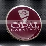 custom quality Caravans PU dome sticker