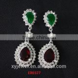 semiprecious stones Wedding Occasion jewelry silver earring