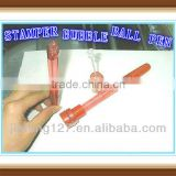 Stamp bubble ball pen also as nice promotional pen