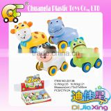 NO-2013B Regalos de juguetes-mini friction cars hot animal cartoon cars toys plastic inertial vehicle