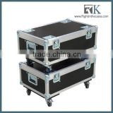 RK Flight Case for projector NEC PH1000U. Divided spaces for accessories. Fittings on lid for stacking crates.