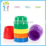 High quality stackable plastic cup shape palette for children
