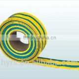 Flame retardant heat shrinkable yellow and green striped tube