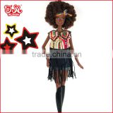 Black Africa fashion doll toy with Afro hair best gift for Children