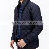 Mens Real Leather Fashion Jacket, Black Men's Quilted Down Lamb Leather Jackets/ Real Leather