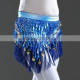 Colorful Egypt Tie-dyed Triangle Coins Tassels Belly Dance Waist Chain Belt Hip Scarf