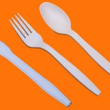 100% Biodegradable Cornstarch Tableware Disposable Dinnerware Cutlery  Spoon Fork Knife